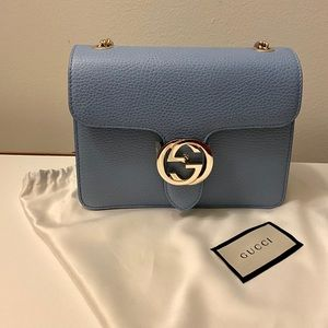 NWT Gucci GG Interlocking Shoulder Bag.